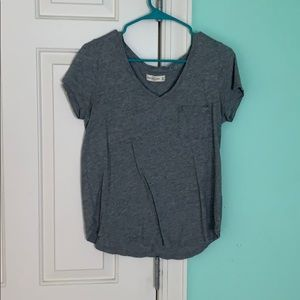 Women's gray v neck t shirt